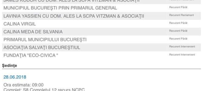Două vești bune de la Curtea de Apel București!