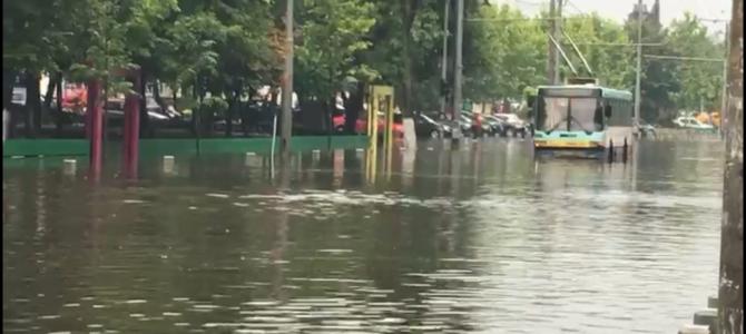 Inundații în centrul Capitalei